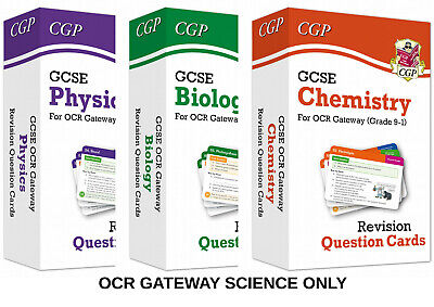 Gcse Ocr Gateway Science Revision Question Cards Biology Chemistry Physics All 3