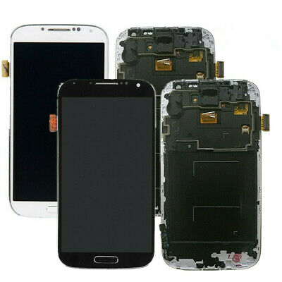 For Samsung Galaxy S4 i337 M919 i9505 LCD Digitizer Touch Screen Display + Frame