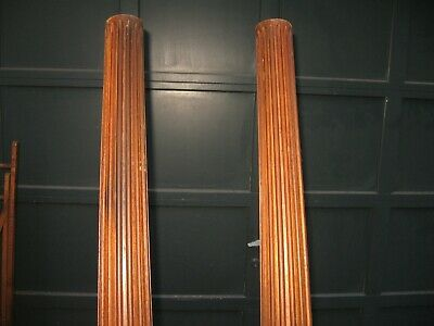 """A Pair of Matching 75"""" Antique Fluted Round Architectural Columns Posts Pillars"""