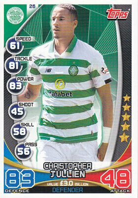 TOPPS MATCH ATTAX SPFL 2019-20 - Christopher Jullien - Celtic - # 26