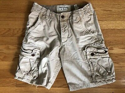 ABERCROMBIE & FITCH Vintage Distressed CARGO Shorts Button Fly HEAVY Mens 31