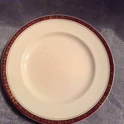 Alfred Meakin England Dinner Plate with Burgundy and Gold Trim #3