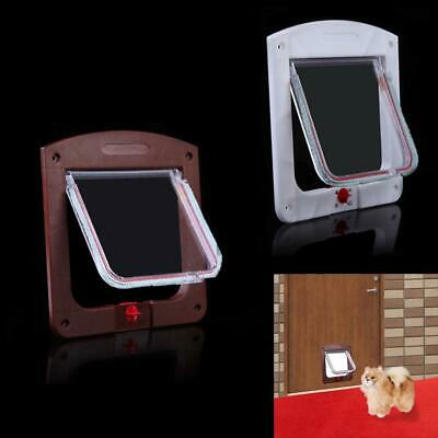 Lockable Cat Flap Door Kitten Dog Pet Lock Suitable for Any Wall or Door  P4PM