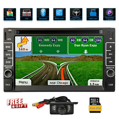 """6.2"""" 2DIN Car CD DVD Player Bluetooth Touch Screen Stereo Radio GPS+Back Camera"""