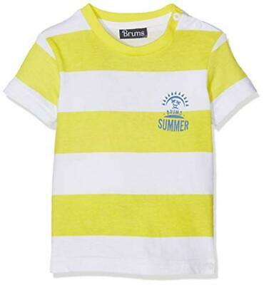 (TG. 24 mesi) Brums T-Shirt Jersey con Stampa, Multicolore (Bianco/Giallo 01 909