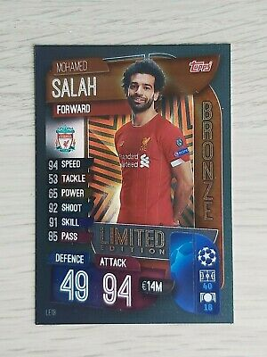 Match Attax 19/20 Rare Mo Salah Bronze Limited Edition Le1B - Mint