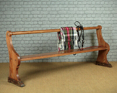 Antique Shallow Pine Tack Room Bench c.1890.
