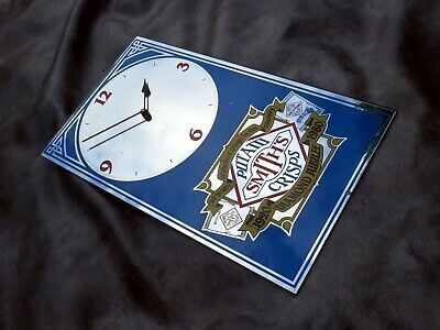 A LOVELY SMITHS POTATO CRISPS 60 YEARS MIRRORED ADVERTISEMENT WALL CLOCK c1980
