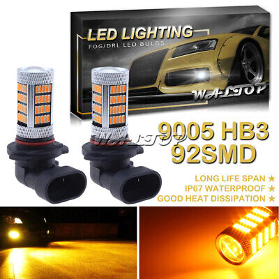 8000K Ice Blue H4 HB2 9003 92SMD LED Projector Fog Driving Light Bulb DRL Lamp