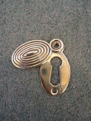 Vintage Brass Beehive Keyhole Cover