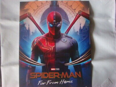 SPIDERMAN Poster Far From Home Official Odeon Movie Glossy almost  A4 size great