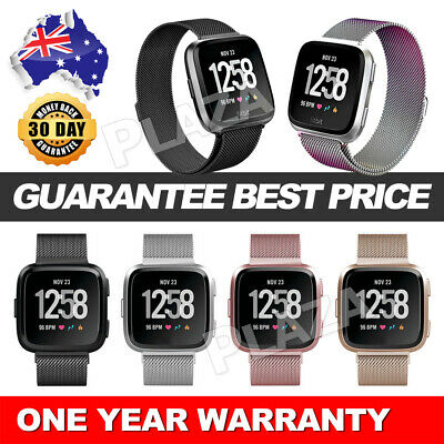 Magnetic Milanese Stainless Watch Wrist Band Strap For Fitbit Versa 2 Lite Smart