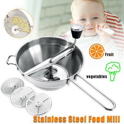 Stainless Steel Food Mill Metal Vegetable Grinder Carrot/Tomato Mixer Maker