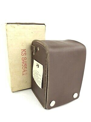 RARE Unused NOS Vintage Bell System Ohm Test Meter w/ Leather Case, KS-8455 L1