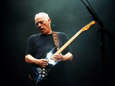 "David Gilmour  Music Canvas Wall Art Picture Print Framed 24/""x18/"""