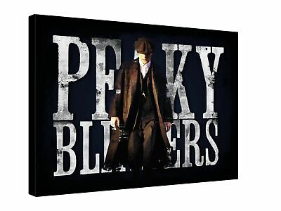 """PEAKY BLINDERS Thomas Shelby Gangster - Quality canvas 16"""" x 12 wall art,"""