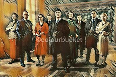 """2 Different Peaky Blinders Canvas designs  24/""""x 10/"""" On A Wooden Stretcher Frame"""