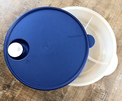 """Tupperware 3284 Crystal Wave Divided Dish Microwave Vent Seal 10"""" Round"""