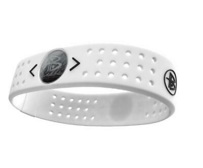(TG. L) Power Balance, Polsiera in Silicone Evolution, Bianco (White), L - NUOVO