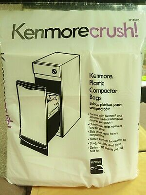 Kenmore Compactor Trash Bags 13370  10 Ct Pack 15 INCH Plastic Bag Home