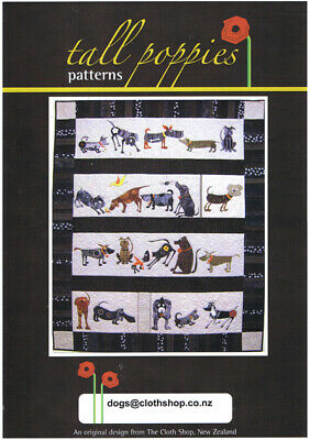 Dogs Quilt Appliqué Pattern Book – Quilt 140 x 180 cm