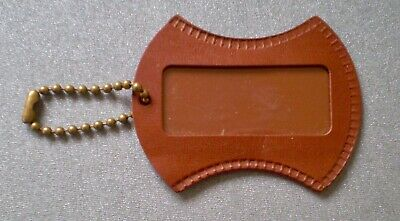 American Tourister Vintage 1960's Suitcase Faux Leather Luggage Name ID Bag Tag
