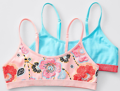 2xNEW GIRLS KIDS BONDS COTTON HIPSTER CROP TOPS  UNDERWEAR SINGLET TRAINING BRA