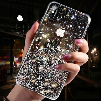 Samsung Galaxy S10 S9 S8 Plus Note10 A8 Bling Glitter Soft Gel Clear Case Cover