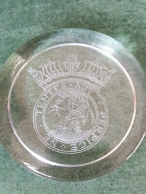 Post Office Telegraph Officers Badge Shipping Merchant Navy Glass Paperweight