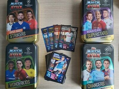 Match Attax 2019/20 19/20 bundle job lot 50-150 card bundles + empty Mega Tin