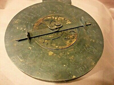 Vintage Antique Brass Persian arab Judaica Bedouin Islamic Astrolabe  Navigation