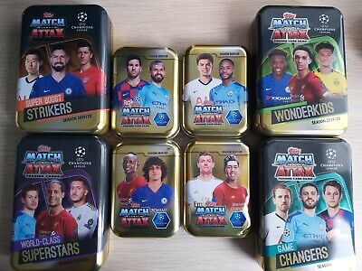 Match Attax 2019/20 19/20 Empty Mega Mini Tins Pick your own Excellent condition