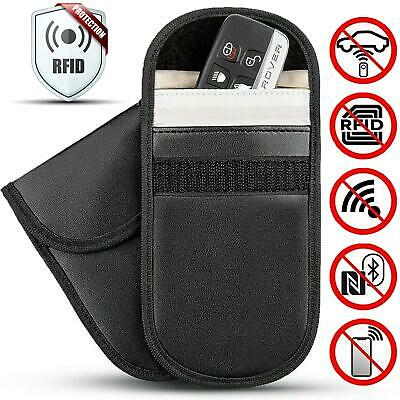 Car Key Fob RFID Signal Blocker Pouch Keyless Entry Theft Case Faraday Cage Bag
