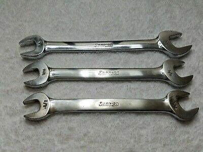 Snap-on VO Series 3-pc SAE Open End Wrench Set VO1618 VO1820 VO2024 MADE IN USA