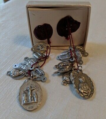 Rosary Parts Sets 'Sorrowful Mother' Nwot Silver Mary's Pierced Heart 2 Imags Ea