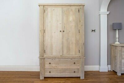 Beautiful reclaimed timber wardrobe from UK manufacturers Eat Sleep Live