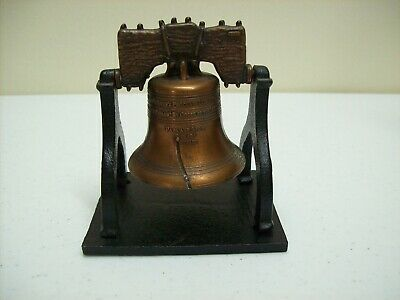 Vintage Liberty Bell July 4 1776 by Penncraft Souvenir Brass Bell Heavy