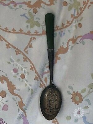 Rewi Maniapoto Maori New Zeland Sterling Nephrite Jade Handle Spoon JS&S Antique