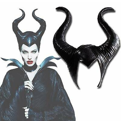Maleficent Horns Evil Black Queen Hat headpiece for Halloween FancyParty Cosplay