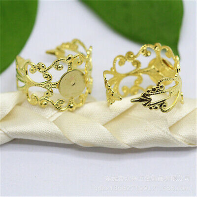 Diy Handmade Women Brass Ring Setting Jewelry Accessories Healing Lots Wholesale