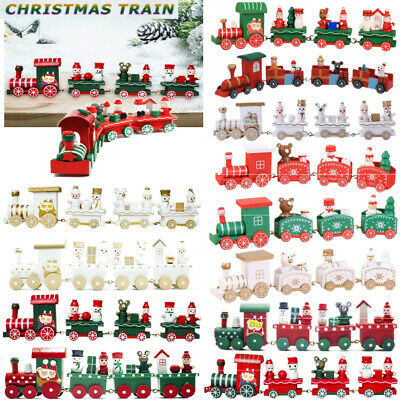 Christmas Cute Wood Carriage Train Ornament Fiesta Decoration Kids Xmas Gift Toy