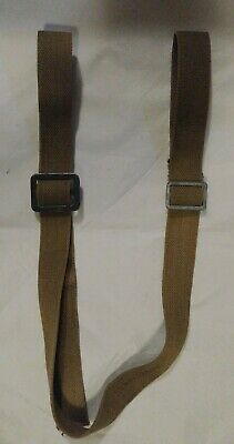 Vintage Wwii Era Rifle Sling 1943 Khaki Usa Made Canvas Army Issue Garand 49 In.