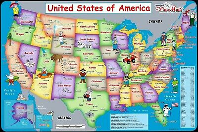 United States MAP Man Cave SIGN 4x6 Fridge Refrigerator Magnet DECOR BAR SHOP