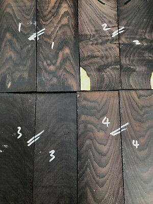 FSC 100% African blackwood grenadilla bookmatched knife scales 150 x 50 x 12mm