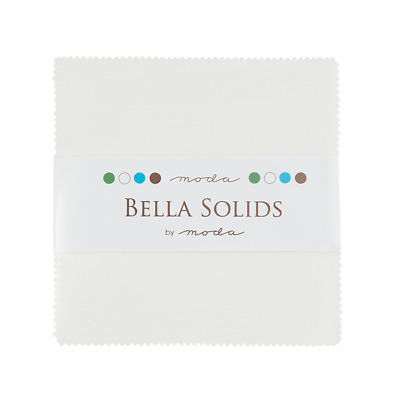 Quilting Fabric Moda Charm Pack  - Bella White Solid X 42