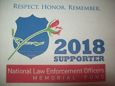 2018  National Law Enforcement Officers Memorial Supporter Static Cling Decal