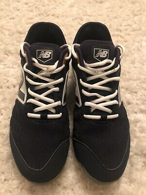 New Balance Navy Blue White Men's Molded Baseball Cleats PL3000n4 Cleat size 9.5