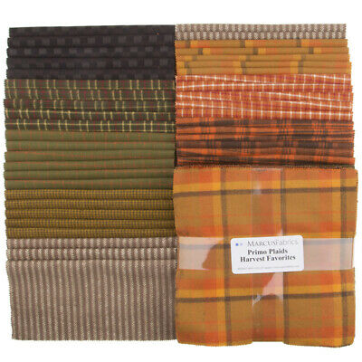 Quilting Fabric Layer Cake - Primo Plaids **Flannel** Havest Favourites X 42