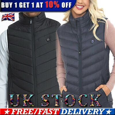 ✅Mens Womens USB Electric Heated Vest Winter Heating Thermal Jacket Coat Heater✅