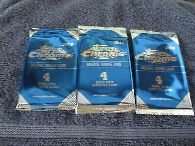 2019 Topps Chrome Sepia Refractors  12 cards 3 Sealed Packs